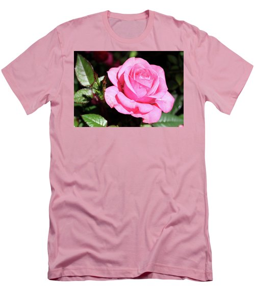 Pink Rose Men's T-Shirt (Slim Fit) by Ronda Ryan