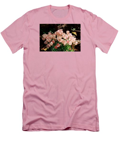 Pink Tulips Men's T-Shirt (Athletic Fit)