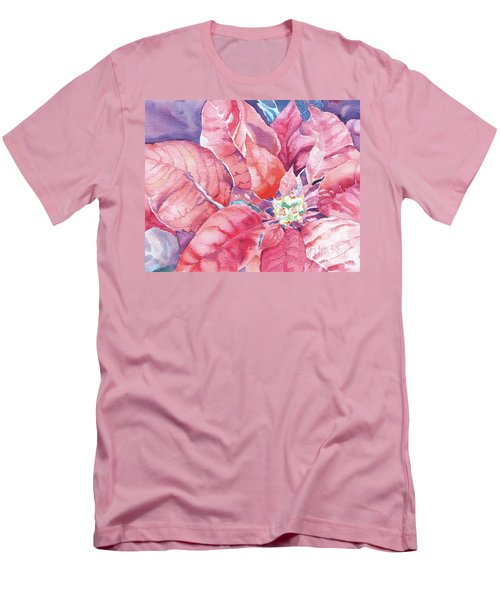 Poinsettia Glory Men's T-Shirt (Slim Fit) by Mary Haley-Rocks