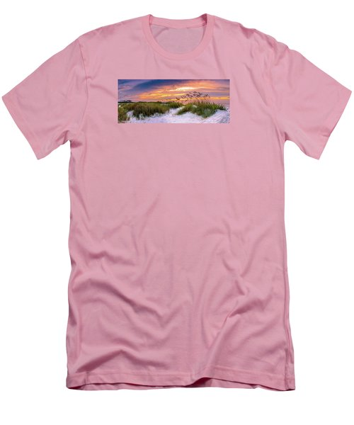 Point Sunrise Men's T-Shirt (Slim Fit) by David Smith