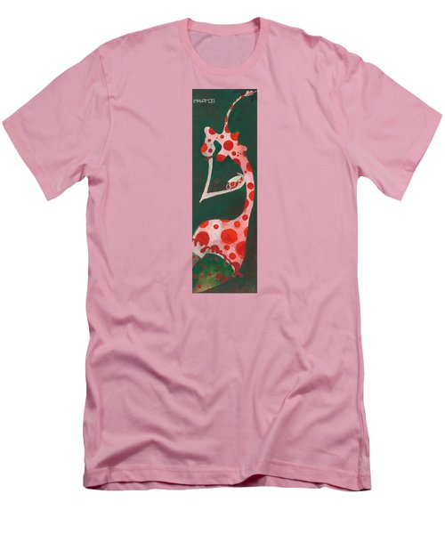 Men's T-Shirt (Slim Fit) featuring the painting Polka Dots by Maya Manolova