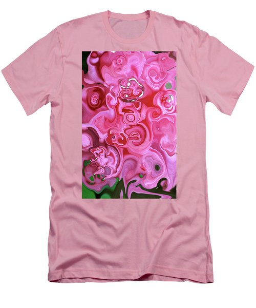 Men's T-Shirt (Slim Fit) featuring the photograph Pretty In Pink by JoAnn Lense
