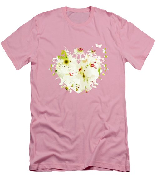 Pretty Pear Petals Men's T-Shirt (Athletic Fit)