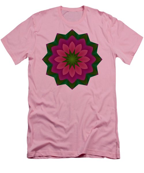Pretty Pink Petals Men's T-Shirt (Athletic Fit)