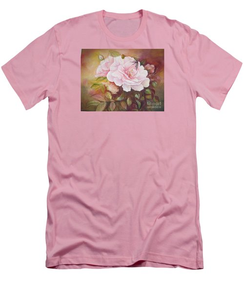 Men's T-Shirt (Slim Fit) featuring the painting Primrose by Patricia Schneider Mitchell