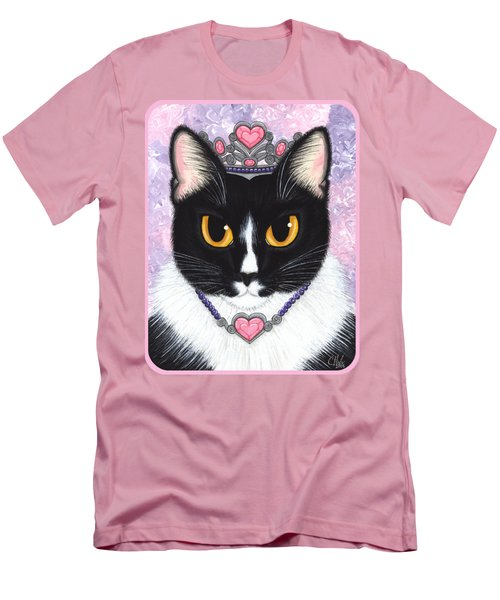 Princess Fiona -tuxedo Cat Men's T-Shirt (Slim Fit) by Carrie Hawks
