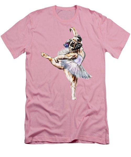 Pug Ballerina Dog Men's T-Shirt (Athletic Fit)