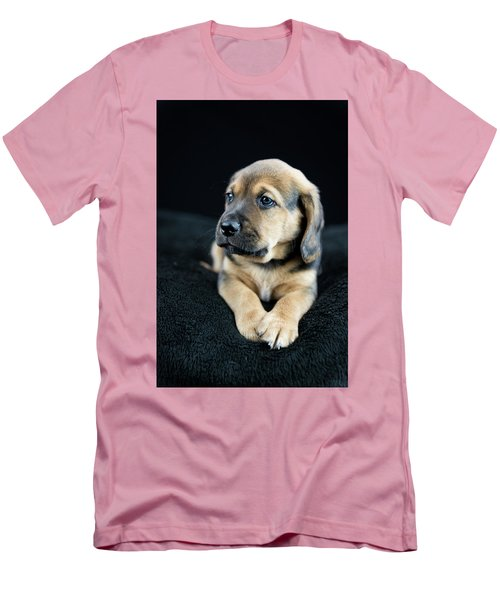 Puppy Portrait Men's T-Shirt (Athletic Fit)