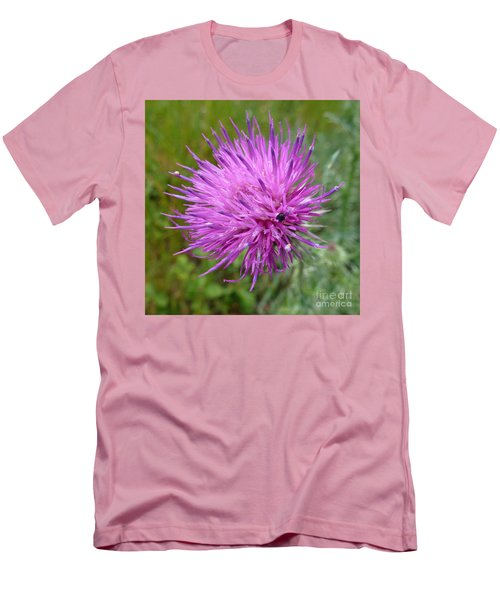 Purple Dandelions 2 Men's T-Shirt (Slim Fit) by Jean Bernard Roussilhe