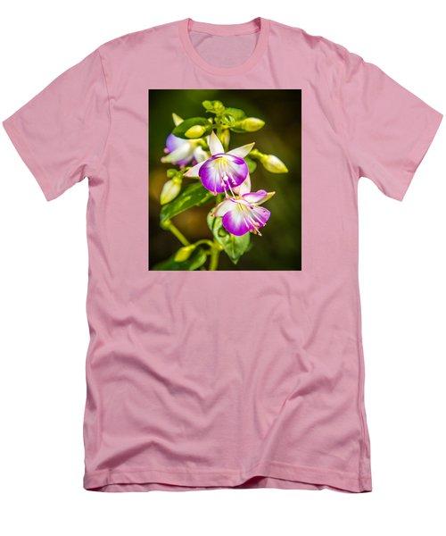 Purple Glow Men's T-Shirt (Slim Fit) by Jerry Cahill