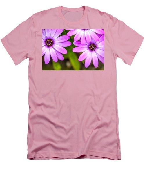 Purple Petals Men's T-Shirt (Slim Fit) by Az Jackson