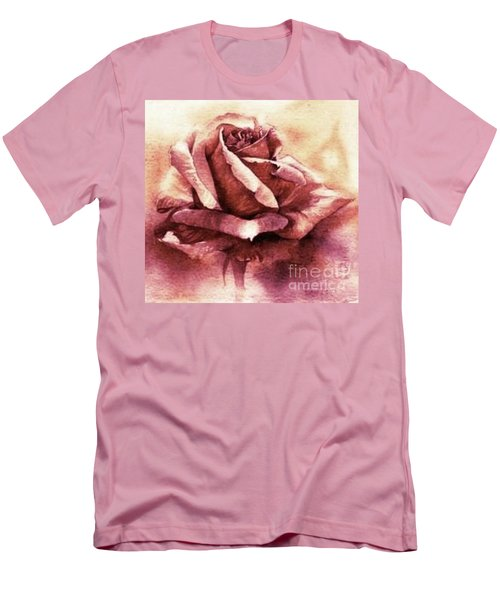 Purple Rose Men's T-Shirt (Slim Fit) by Sandra Phryce-Jones