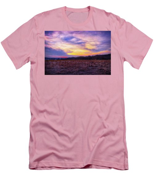 Men's T-Shirt (Slim Fit) featuring the photograph Purple Sunset At Retzer Nature Center by Jennifer Rondinelli Reilly - Fine Art Photography