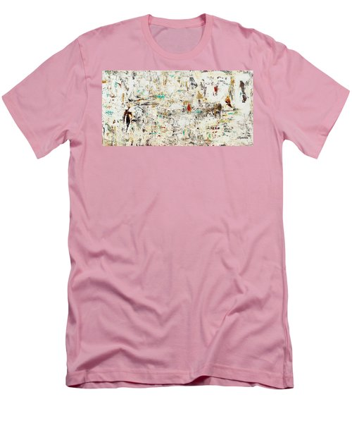 Men's T-Shirt (Slim Fit) featuring the painting Quest by Carmen Guedez