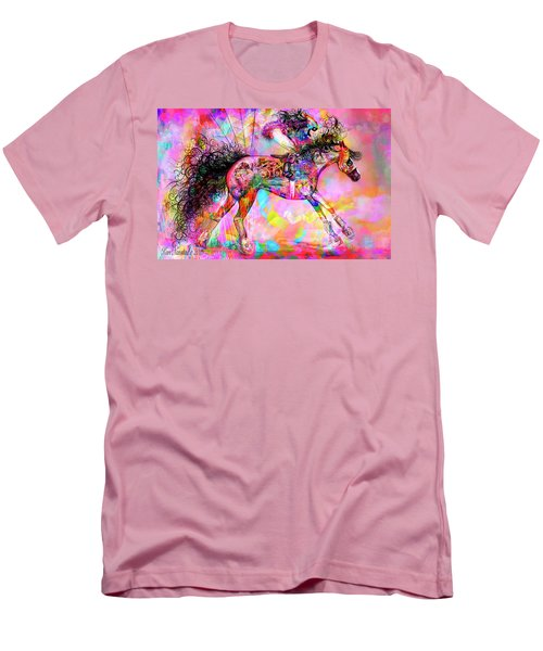 Men's T-Shirt (Slim Fit) featuring the digital art Racing For Time by Kari Nanstad