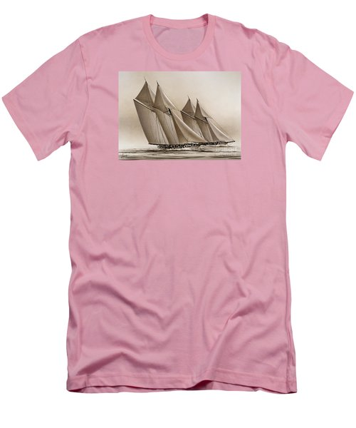 Racing Yachts Men's T-Shirt (Slim Fit) by James Williamson