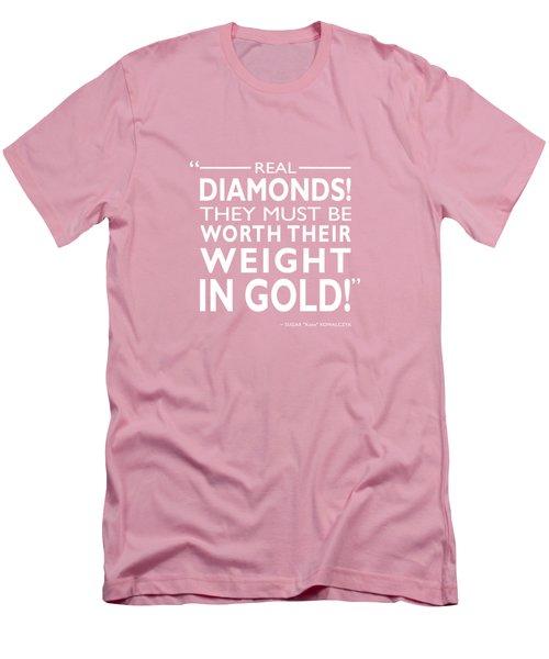 Real Diamonds Men's T-Shirt (Slim Fit) by Mark Rogan