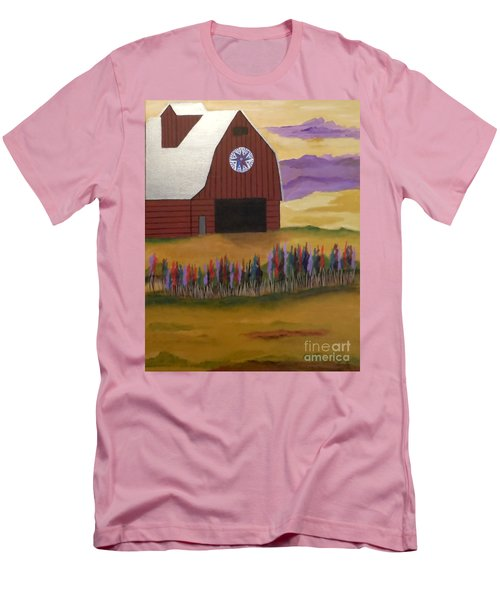 Red Barn Golden Landscape Men's T-Shirt (Athletic Fit)