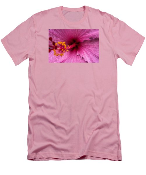 Men's T-Shirt (Slim Fit) featuring the photograph Red Bloom - Pla302 by G L Sarti