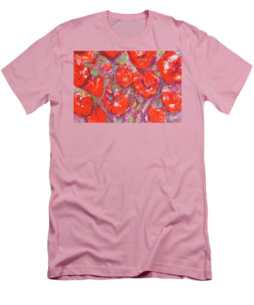 Red Poppies Men's T-Shirt (Slim Fit) by Gallery Messina