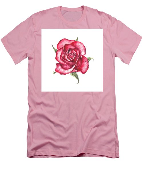 Red Rose Men's T-Shirt (Slim Fit) by Heidi Kriel