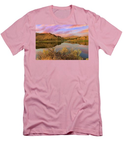 Reflection Of Scenic High Desert Landscape In Central Oregon Men's T-Shirt (Athletic Fit)