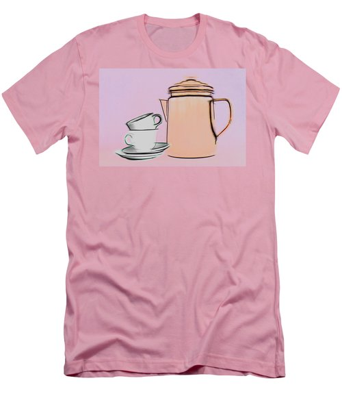 Men's T-Shirt (Slim Fit) featuring the photograph Retro Style Coffee Illustration by Tom Mc Nemar