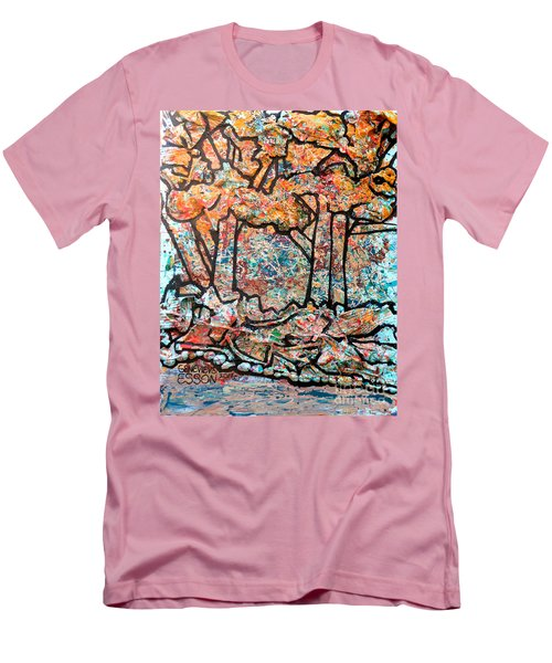 Men's T-Shirt (Slim Fit) featuring the mixed media Rhythm Of The Forest by Genevieve Esson