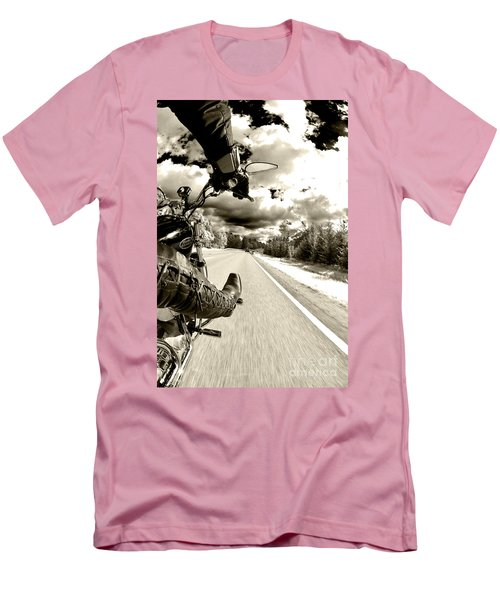 Ride To Live Men's T-Shirt (Slim Fit) by Micah May