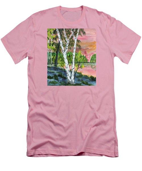 River Birch Men's T-Shirt (Slim Fit) by Jack G  Brauer