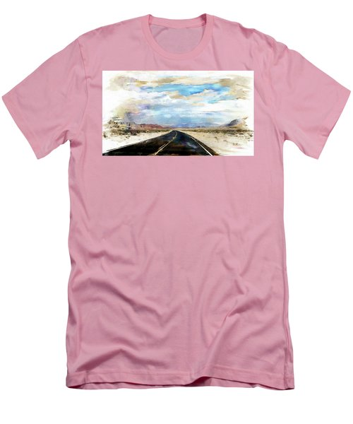 Men's T-Shirt (Slim Fit) featuring the digital art Road In The Desert by Robert Smith