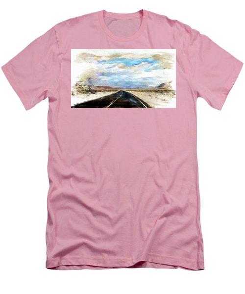 Road In The Desert Men's T-Shirt (Slim Fit) by Robert Smith