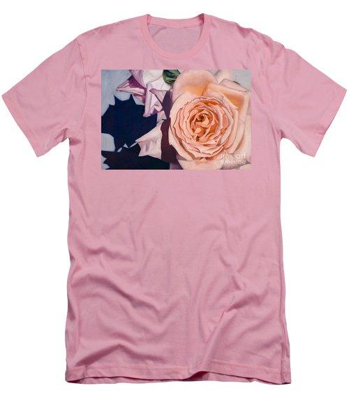 Men's T-Shirt (Slim Fit) featuring the painting Rose Splendour by Kerryn Madsen-Pietsch