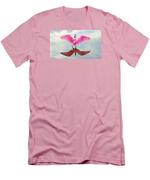 Roseate Spoonbill Pink Angel Men's T-Shirt (Athletic Fit)
