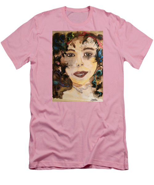 Men's T-Shirt (Slim Fit) featuring the painting Rosie by Denise Tomasura