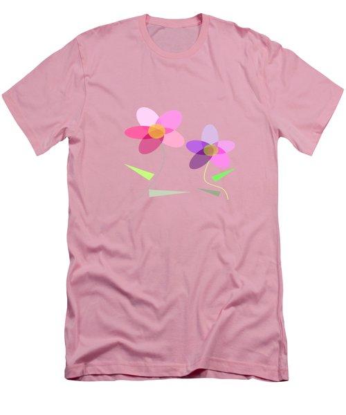 Rows Of Flowers Men's T-Shirt (Slim Fit) by Kathleen Sartoris