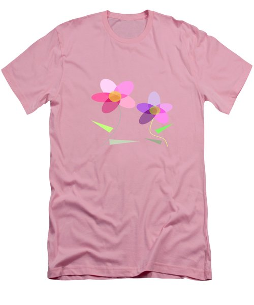 Rows Of Flowers Men's T-Shirt (Slim Fit)