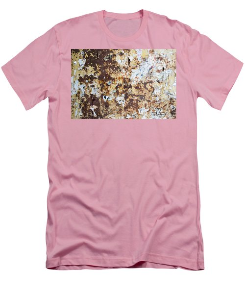 Men's T-Shirt (Slim Fit) featuring the photograph Rust Paper Texture by John Williams