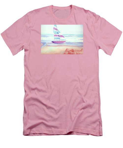 Men's T-Shirt (Slim Fit) featuring the painting Sail Away by Denise Fulmer