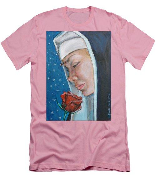Saint Rita Of Cascia Men's T-Shirt (Slim Fit) by Bryan Bustard