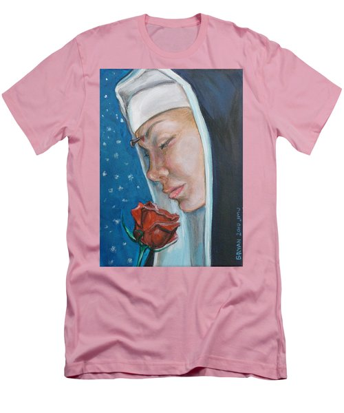Saint Rita Of Cascia Men's T-Shirt (Athletic Fit)