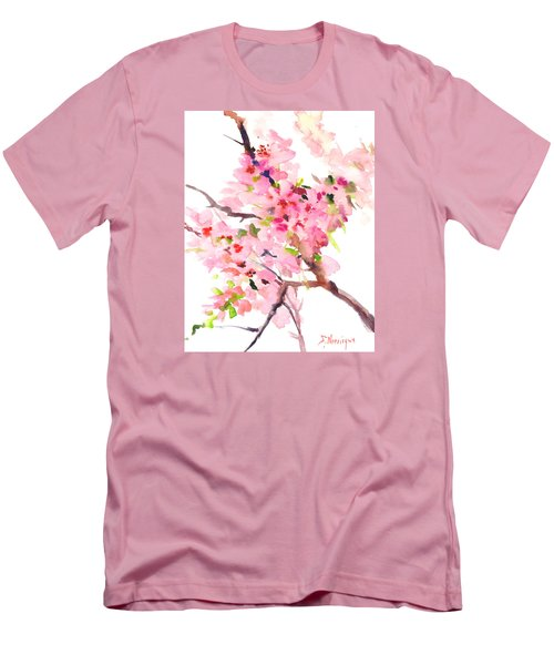 Sakura Cherry Blossom Men's T-Shirt (Athletic Fit)