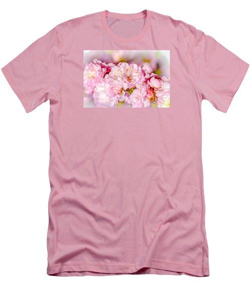Men's T-Shirt (Slim Fit) featuring the photograph Sakura Cherry Flower - Wedding Bouquet by Alexander Senin