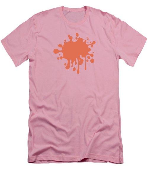 Salmon Color Accent Decor Men's T-Shirt (Slim Fit)