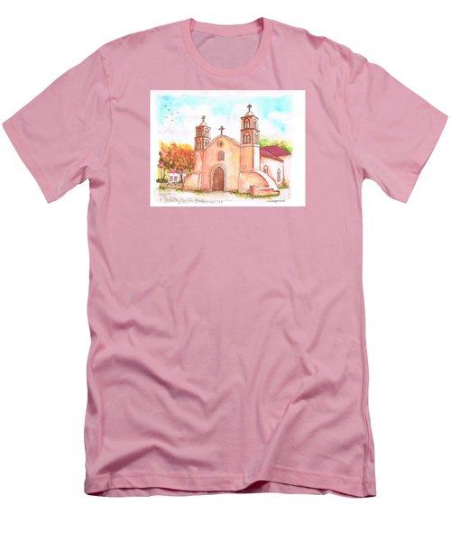 San Miguel Catholic Church, Socorro, New Mexico Men's T-Shirt (Slim Fit) by Carlos G Groppa