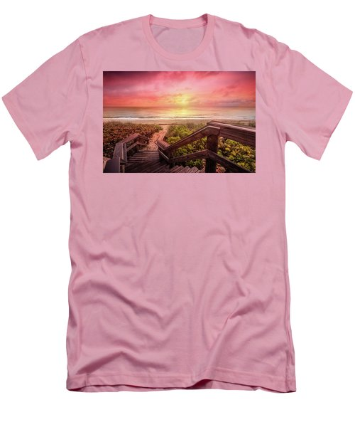 Men's T-Shirt (Slim Fit) featuring the photograph Sand Dune Morning by Debra and Dave Vanderlaan