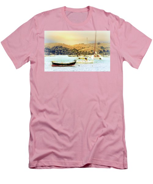 Sausalito Sailboats Men's T-Shirt (Slim Fit) by Laura DAddona