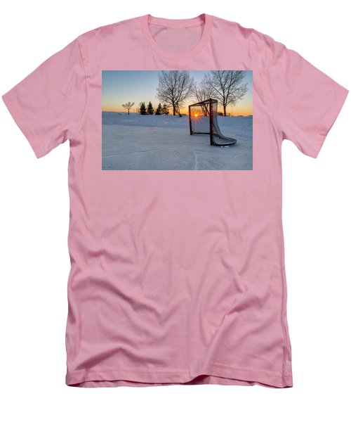 Men's T-Shirt (Slim Fit) featuring the photograph Scoring The Sunset 2 by Darcy Michaelchuk