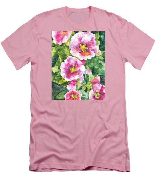Men's T-Shirt (Slim Fit) featuring the painting Secret Garden by Casey Rasmussen White