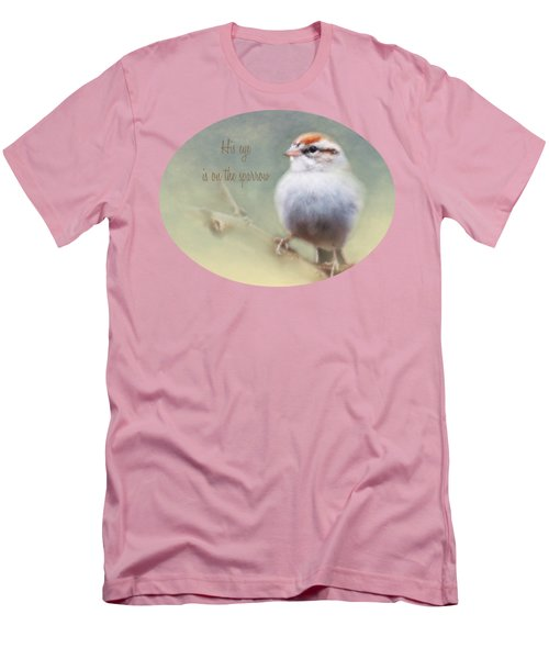 Serendipitous Sparrow - Quote Men's T-Shirt (Slim Fit) by Anita Faye